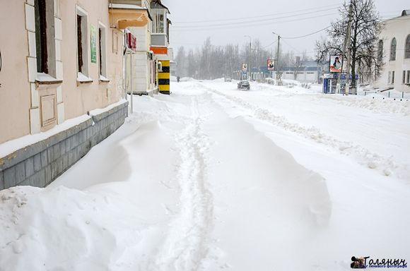 Снегопад в Суворове